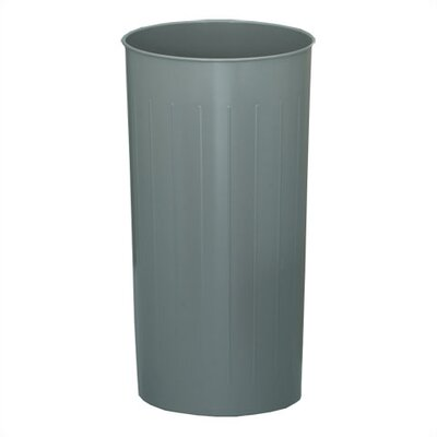 Witt Three Pack of Metal Series Tall 20 Gallon Round Waste Baskets