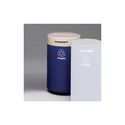 Witt Fiberglass Series 21 Gallon Round Recycling Container