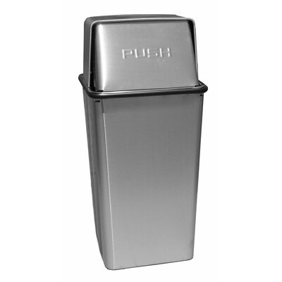 Witt Metal Series Wastewatchers 36 Gallon Stainless Steel Receptacle with Rigid Plastic Liner