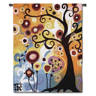Fine Art Tapestries Abstract June Tree by Natasha Wescoat Tapestry
