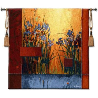 Fine Art Tapestries Iris Sunrise BW Tapestry