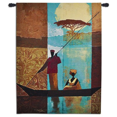 Fine Art Tapestries On The River I by Keith Mallet Tapestry