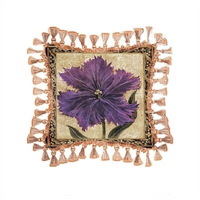 Fine Art Tapestries Tulip Unveiled I Pillow - Liz Jardine