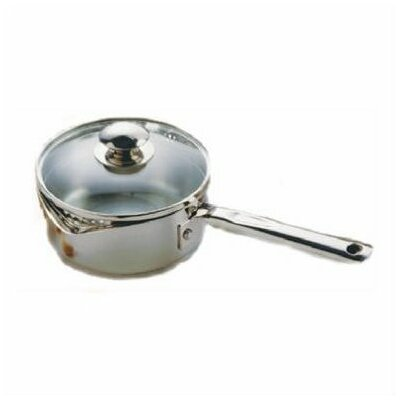 Cook and Strain Stainless Steel 3-qt Saucepan with Lid