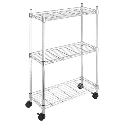 <strong>Whitmor, Inc</strong> Three Tier Supreme Laundry Cart in Chrome
