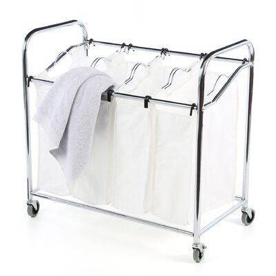 Whitmor, Inc Canvas 4 Section Laundry Sorter