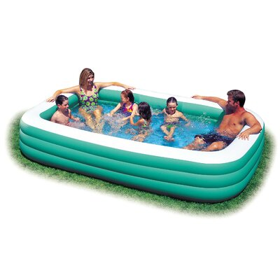 Inflatable vinyl pool wayfair for Inflatable family swimming pool