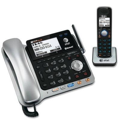 Advanced American Telephone Two-Line Dect 6.0 Phone System with Bluetooth