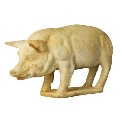 OrlandiStatuary Animals Pig on Base Garden Statue