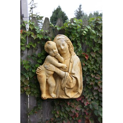 OrlandiStatuary Religious Madonna and Child Silhouete Wall Décor