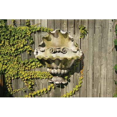 OrlandiStatuary Shell Opera Planter Garden Wall Decor