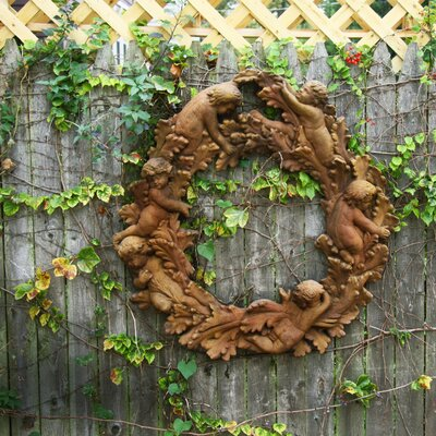 OrlandiStatuary Babies in Leaves Wall Decor