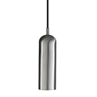 Alico Silo Small Pendant with Flat Canopy in Stainless Steel