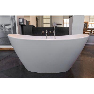 """Aquatica PureScape 64"""" x 34"""" Freestanding AquaStone Bathtub"""
