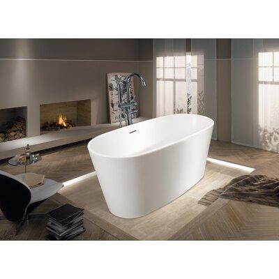 """Aquatica PureScape 62"""" x 28"""" Freestanding AquaStone Bathtub"""
