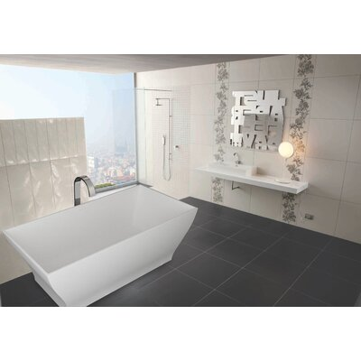 "Aquatica PureScape 71"" x 32"" Freestanding AquaStone Bathtub"