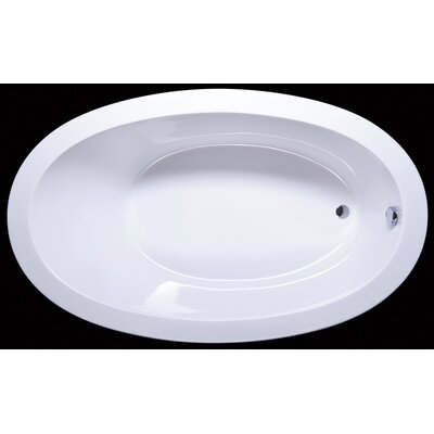 "Aquatica Solace 70"" x 42"" Freestanding EcoMarmor Bathtub"