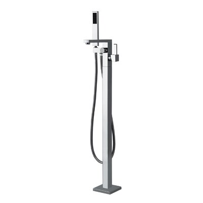 Aquatica Floor Mount Tub Filler with Handshower