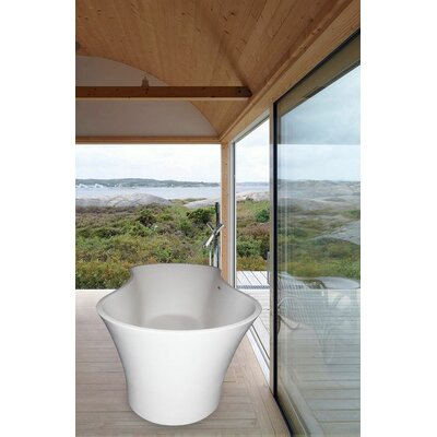 "Aquatica PureScape 64"" x 29"" Bathtub"