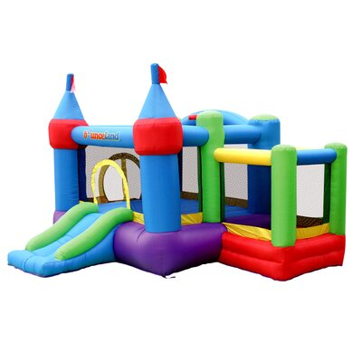 Bounceland Inflatable Dream Castle Bounce House with Ball Pit