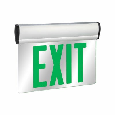 Barron Lighting Double Face Green LED Edge Lit Exit Sign