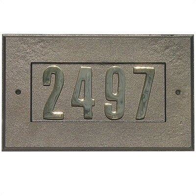 Qualarc Manchester Cast Aluminum Address Plaque