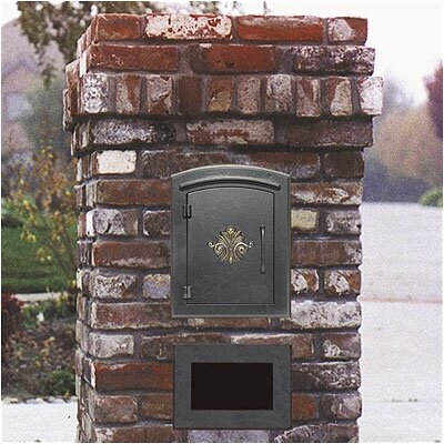 Qualarc Manchester Column Mounted Mailbox w/ Decorative Accent