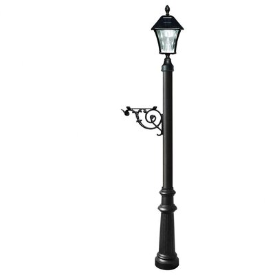Qualarc Lewiston Post (Fluted Base and Solar Lamp)