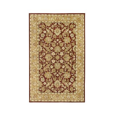 Noble House Harmony Burgundy/Gold Rug
