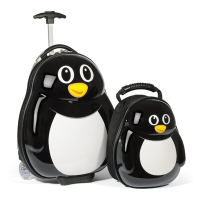 TrendyKid 2 Piece Percy Penguin Children's Luggage Set