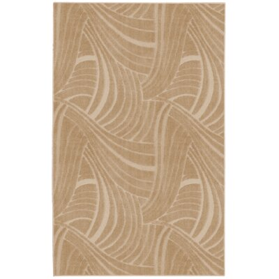 6Casual Concepts Brush Stroke Clay Beige Rug