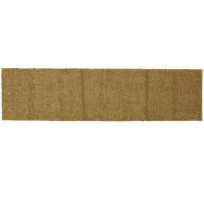 Mohawk Home Super Texture Shag King's Gold Solid Rug