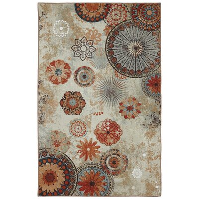 Outdoor/Patio Multi Alexa Medallion Rug