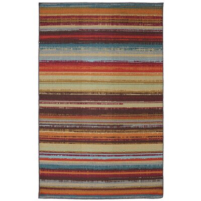 Mohawk Home Outdoor/Patio Multi Avenue Stripe Rug