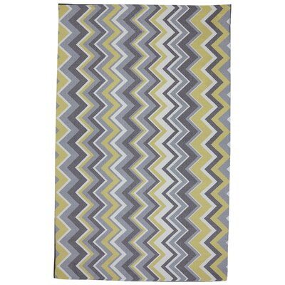 Mohawk Select Outdoor/Patio Yellow Ella Zig Zag Rug