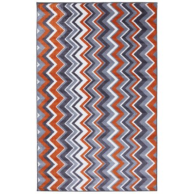 Mohawk Home New Wave Orange Ziggidy Rug
