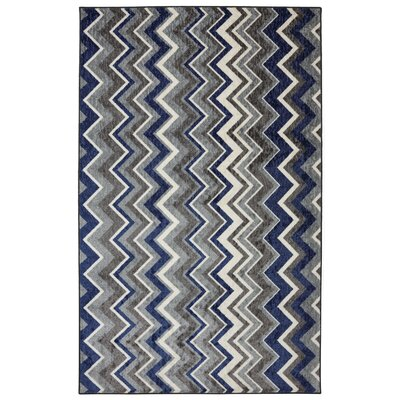 Mohawk Home New Wave Blue Ziggidy Royal Rug