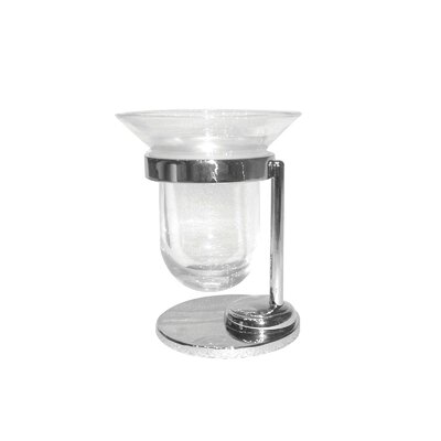 Artos Cantori Free Standing Clear Glass Tumbler and Toothbrush Holder