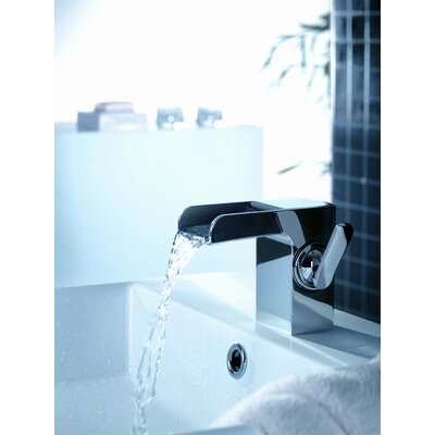 Kascade Single Hole Waterfall Bathroom Sink Faucet with Single Handle - F801-1BN / F801-1CH