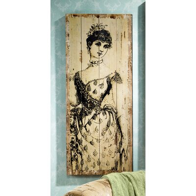La Mode Illustree Lady with Sash Victorian Fashion Graphic Art Plaque