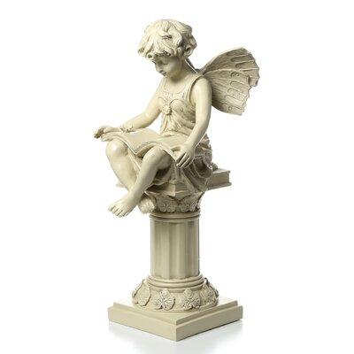 Resin garden statues wayfair - Reading fairy garden statue ...