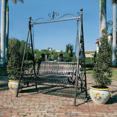 Design Toscano Rockaway Garden Porch Swing With Stand