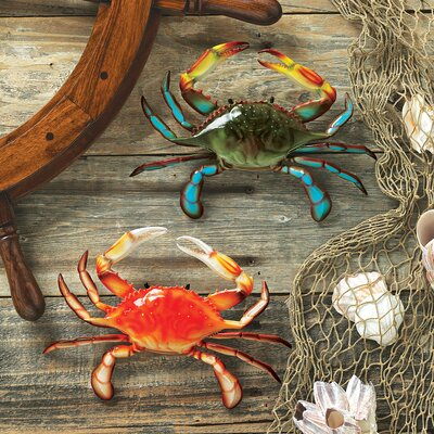Tropical Crabs Wall Sculpture (Set of 2)