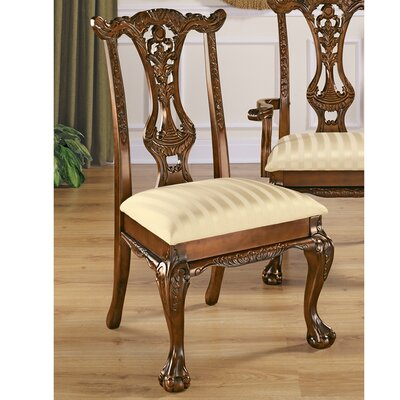 Design Toscano Cupid's Bow Chippendale Fabric Side Chair
