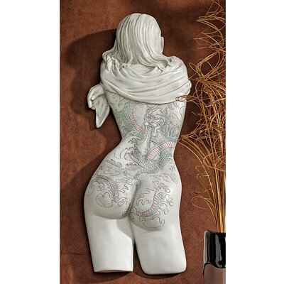 Tattoo Temptation Asian Beauty Wall Sculpture