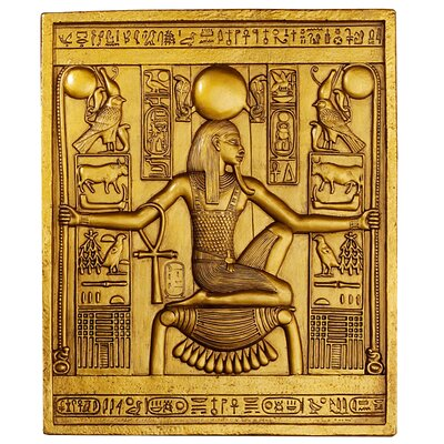 Design Toscano Egyptian Temple Stele Tutankhamen Plaque