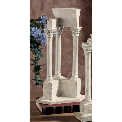 Design Toscano Roman Forum Temple of Vespasian Corner Column in Stone