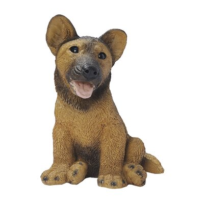 German Shepherd Puppy Dog Statue