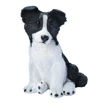 Design Toscano Border Collie Puppy Dog Statue