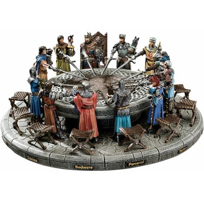 King Arthur and Round Table Sculptural Set